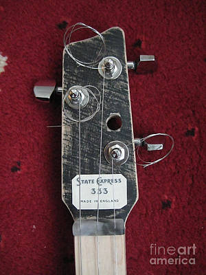 Musical Instruments Mixed Media - Cigar Box Guitar by Marvin Blaine