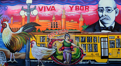 Photograph - Cigar City Street Mural by David Lee Thompson