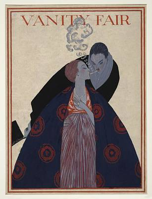 Cigarette Couple, 1919 Vanity Fair Art Print by Science Photo Library