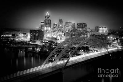 Cincinnati A New Perspective Art Print by Kimberly Nickoson