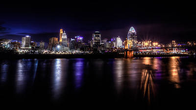 Photograph - Cincinnati After Sunset by Keith Allen