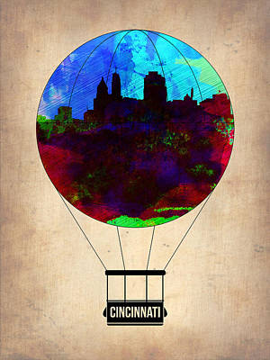 Cincinnati Painting - Cincinnati Air Baloon by Naxart Studio