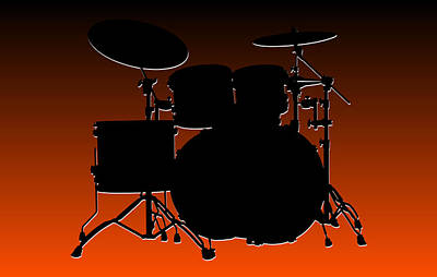 Cincinnati Bengals Drum Set Print by Joe Hamilton