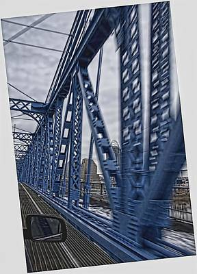 Photograph - Cincinnati Bridge by Daniel Sheldon