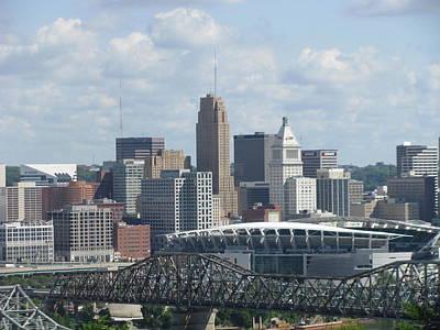 Photograph - Cincinnati Cityscape by Ellen Meakin