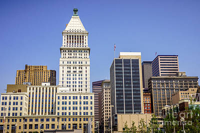 Pnc Photograph - Cincinnati Downtown City Buildings Business District by Paul Velgos