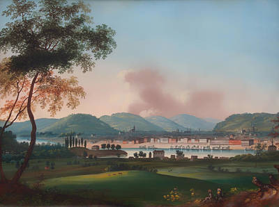 Kentucky Painting - Cincinnati From Behind Newport Barracks by Mountain Dreams