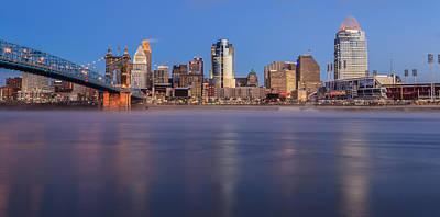Photograph - Cincinnati Frozen by Keith Allen