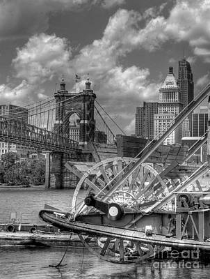 Photograph - Cincinnati Landmarks 1 Bw by Mel Steinhauer