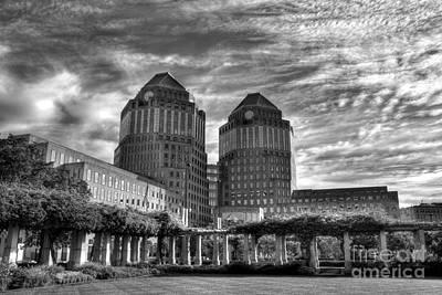 Cincinnati Landmarks 6 Bw Art Print by Mel Steinhauer