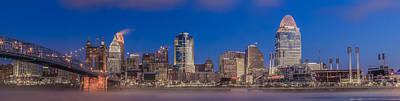 Photograph - Cincinnati Morning Twilight by Keith Allen