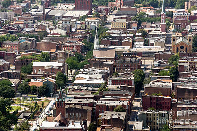 Cincinnati Over The Rhine Neighborhood Aerial Photo Art Print by Paul Velgos