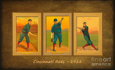 Sports Royalty-Free and Rights-Managed Images - Cincinnati Reds 1911 by Lianne Schneider