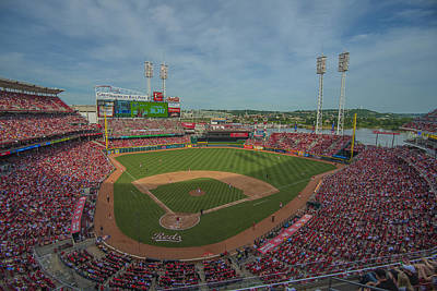 Photograph - Cincinnati Reds Great American Ballpark by David Haskett II