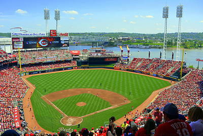 Photograph - Cincinnati Reds Stadium by Kathy Barney
