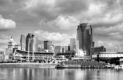 Photograph - Cincinnati River Days 2 Bw by Mel Steinhauer