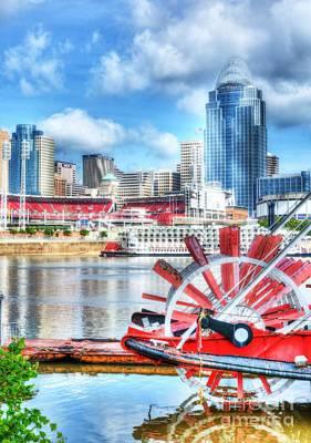 Steamboat Photograph - Cincinnati River Days by Mel Steinhauer