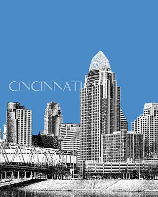 Cincinnati Skyline 1 - Slate Art Print by DB Artist