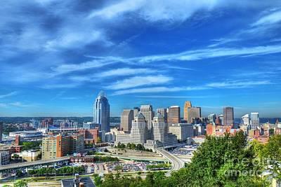 Cincinnati Skyline 2 Art Print by Mel Steinhauer