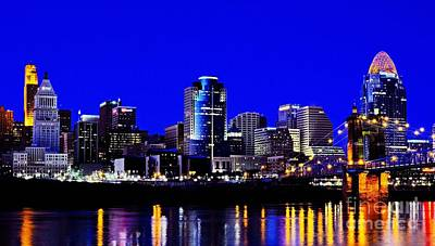 Photograph - Cincinnati Skyline Dreams 2 by Mel Steinhauer