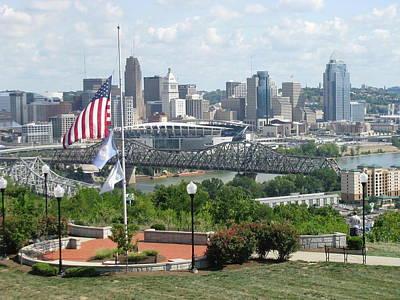 Photograph - Cincinnati Skyline by Ellen Meakin