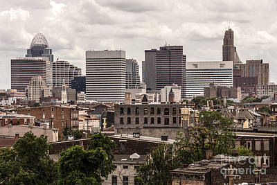 Cincinnati Skyline Old And New Buildings Art Print by Paul Velgos
