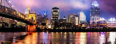 Photograph - Cincinnati Skyline Panorama by Gregory Ballos