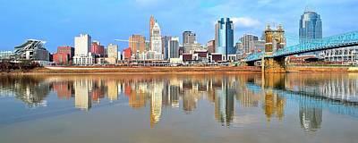 Cincinnati Skyline Panoramic Art Print by Frozen in Time Fine Art Photography