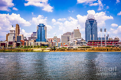 Greater Cincinnati Photograph - Cincinnati Skyline Photo by Paul Velgos