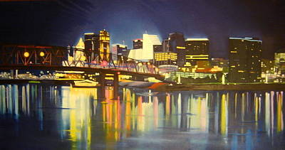 Cincinnati Skyline Original by Suzy Majewski