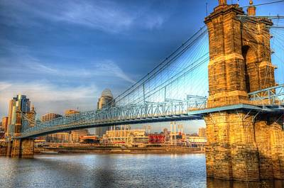 Photograph - Cincinnati Suspension by Mark Bowmer