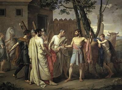 Painting - Cincinnatus Abandons The Plow by Juan Antonio Ribera
