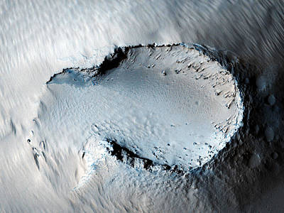 Cinder Cone On The Southern Flank Of Pavonis Mons Volcano In Mars Print by Celestial Images
