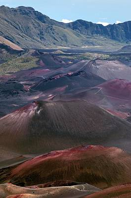 Cinder Cones In Haleakala Crater Art Print by Kaj R. Svensson