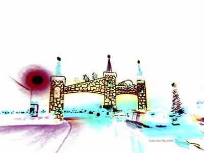 Digital Art - Cinderella Castle And Polar Bear by Angelia Hodges Clay