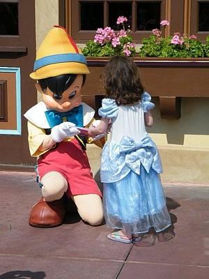 Photograph - Cinderella Gets Autograph by Ronda Douglas