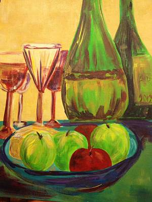 Painting - Cinderella Glass And Wine by Bobbin