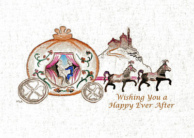 Horse Painting - Cinderella Wedding Message by MEA Fine Art