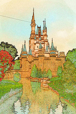 Photograph - Cinderella'a Castle by Michael Porchik