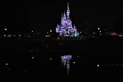 Photograph - Cinderella's Castle Night Reflections by Robert  Moss