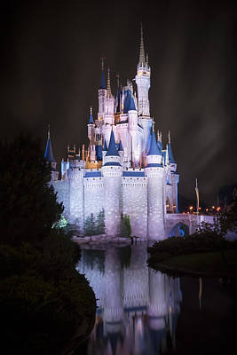Unique Wall Art Photograph - Cinderella's Castle Reflection by Adam Romanowicz