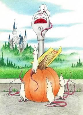Lennon Drawing - Cinderella's Mice by Bruce Lennon