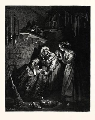 Cinderellas Pumpkin. Cinderella, Or The Little Glass Slipper Art Print by Dore, Gustave (1832-83), French