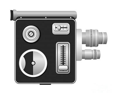 8mm Digital Art - Cine Camera by Michal Boubin