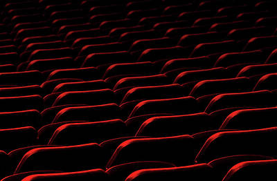 Seat Photograph - Cinema by Hans-wolfgang Hawerkamp
