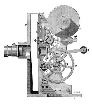 Wall Art - Photograph - Cinema Projector, 1897 by Science Photo Library