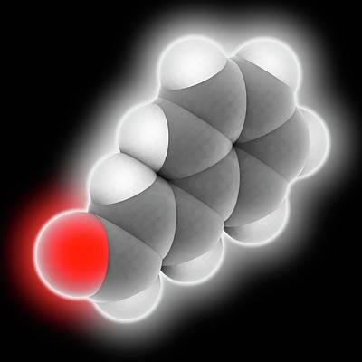 Cinnamaldehyde Molecule Art Print by Laguna Design