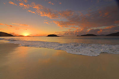 Photograph - Cinnamon Bay Sunset Reflections by Stephen  Vecchiotti