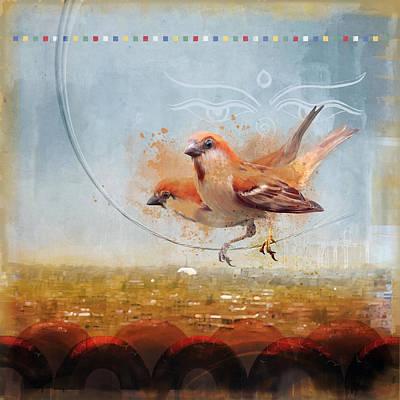 Cinnamon Sparrows Art Print by Alex Tomlinson