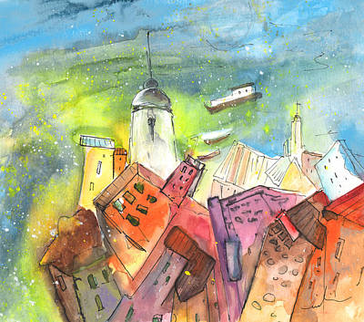 Lighthouse Drawing - Cinque Terre 03 by Miki De Goodaboom